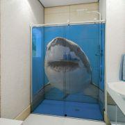 Adesivo de Box Tubarão de Frente