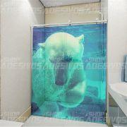 Adesivo de Box Urso Polar de Lado