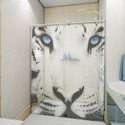 Adesivo de Box Tigre Branco