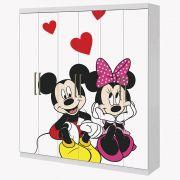 Adesivo Envelopamento Guarda Roupa 2mX2m Mickey e Minnie Apaixonados