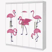 Adesivo Envelopamento Guarda Roupa 2mX2m Flamingo