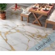 Adesivo Lavável Imita Mármore/Granito Calacata Branco Gold