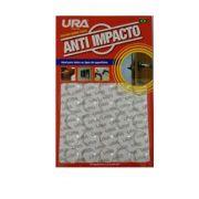 Anti impacto redondo transparente 1,5cm 25 peças