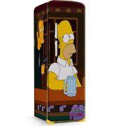 Envelopamento de Geladeira Bart Simpsons no Bar