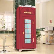 Envelopamento de Geladeira Cabine de Telefone Vermelho