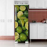 Envelopamento de Geladeira Limão Verde