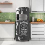 Envelopamento de Geladeira Whisky Jack Daniels Cinza