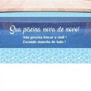 Faixa de Piscina Vinil Autocolante Gotas Azuis
