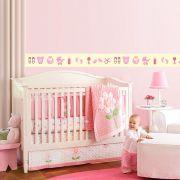 Faixa Infantil Bebê Menina Rosa
