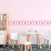 Faixa Infantil Bonequinha com Laço Rosa