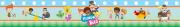 Faixa Infantil Mundo Bita - Personalizada (1mx15 com nome + 11mx15 sem nome)