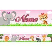 Faixa Personalizada Safari Rosa