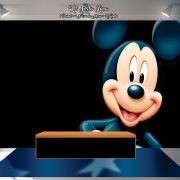 Kit Festa Painel Toalha Tapete em Lona Mickey Mouse