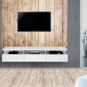 Painel Autoadesivo para Tv Lavável Textura Madeira Clara