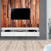 Painel Autoadesivo para Tv Lavável Textura Madeira com Verniz