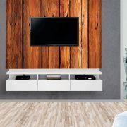 Painel Autoadesivo para Tv Lavável Textura Madeira Larga