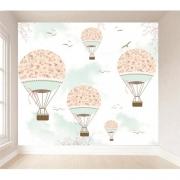 Papel de Parede Autoadesivo Balão Floral