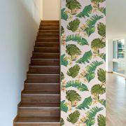 Papel de Parede Autoadesivo Folhas de Bananeira Verde