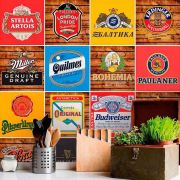 Papel de Parede Autoadesivo Rótulos de Cerveja