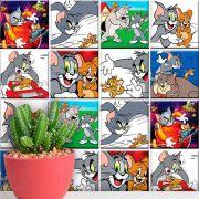 Papel de Parede Autoadesivo Tom & Jerry