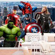 Papel de Parede Autoadesivo Heróis na Cidade Avengers