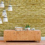 Papel de Parede Autoadesivo Pedras Amarelas 3D
