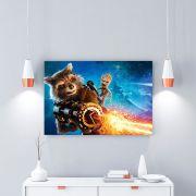 Placa Decorativa Personalizada Guardiões da Galáxia Rocket Raccoon