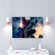 Placa Decorativa Personalizada Homem Aranha Vermelho VS Homem Aranha Preto