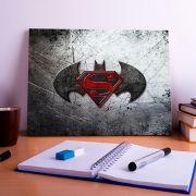 Placa Decorativa Personalizada Logo Batman VS SuperMan
