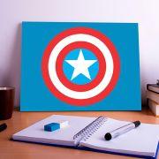 Placa Decorativa Personalizada Logo Capitão América