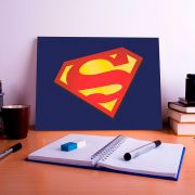Placa Decorativa Personalizada Logo Super Homem