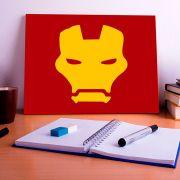 Placa Decorativa Personalizada Máscara Homem de Ferro
