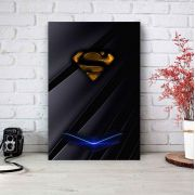 Placa Decorativa Personalizada Super Homem Preto