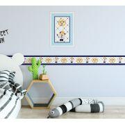 Quadro Infantil 3D Ursinho Príncipe Azul Marinho