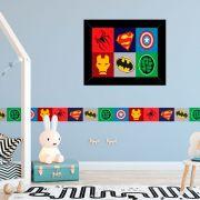 Quadro Infantil Os Vingadores Baby Símbolo