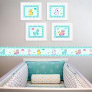 Quadro Infantil Unicórnio Tiffany
