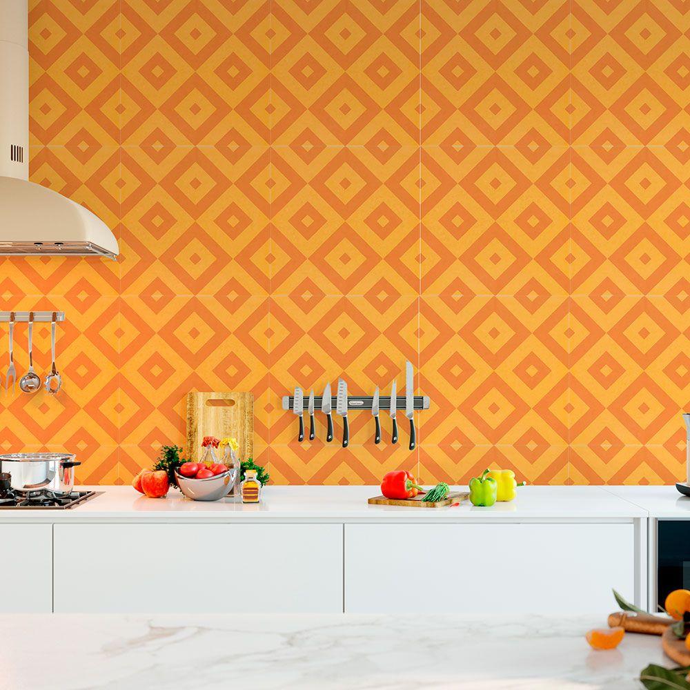Adesivo  de Azulejo Mostarda e Amarelo