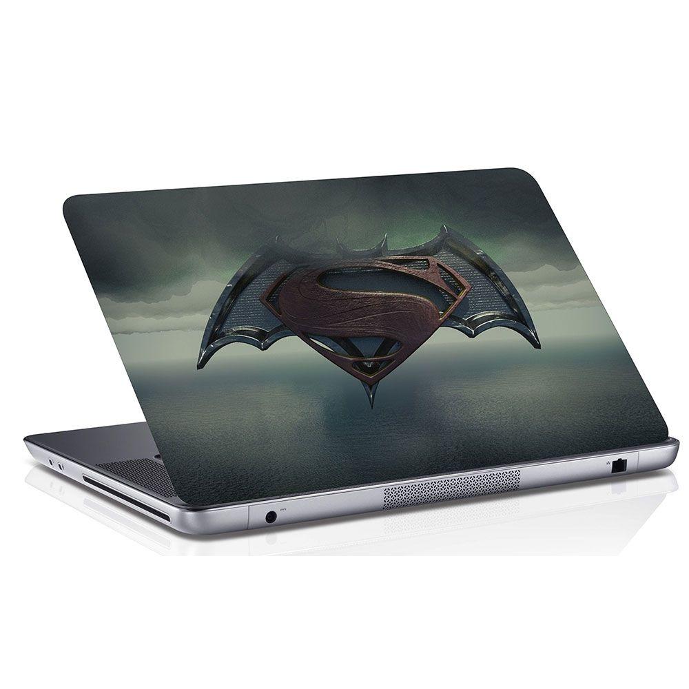Adesivo de Notebook Batman X Super Homem