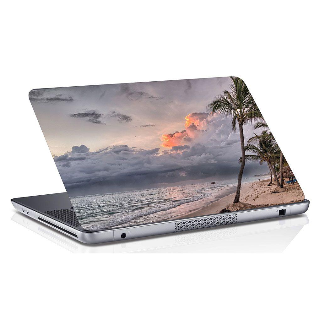Adesivo de Notebook Coqueiro e Praia