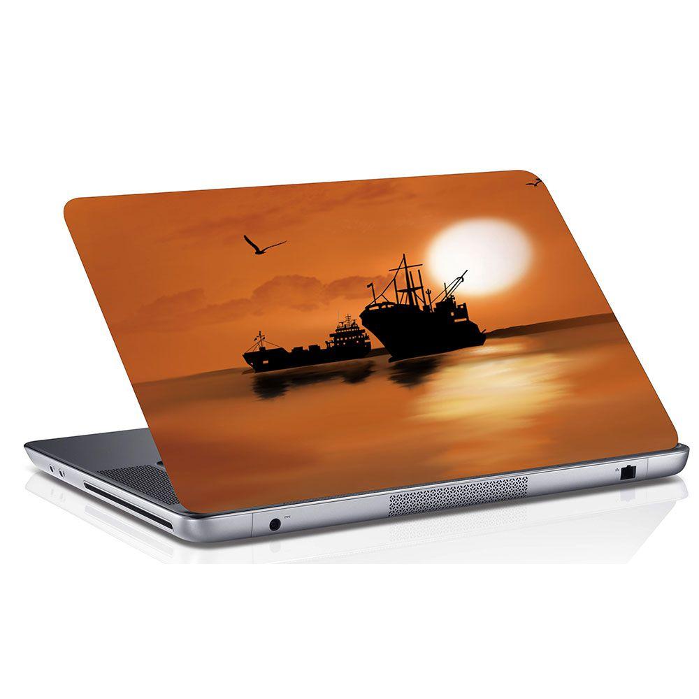 Adesivo de Notebook Navio Pôr do Sol