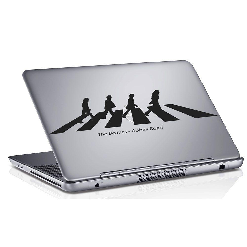 Adesivo de Notebook Os Beatles Preto