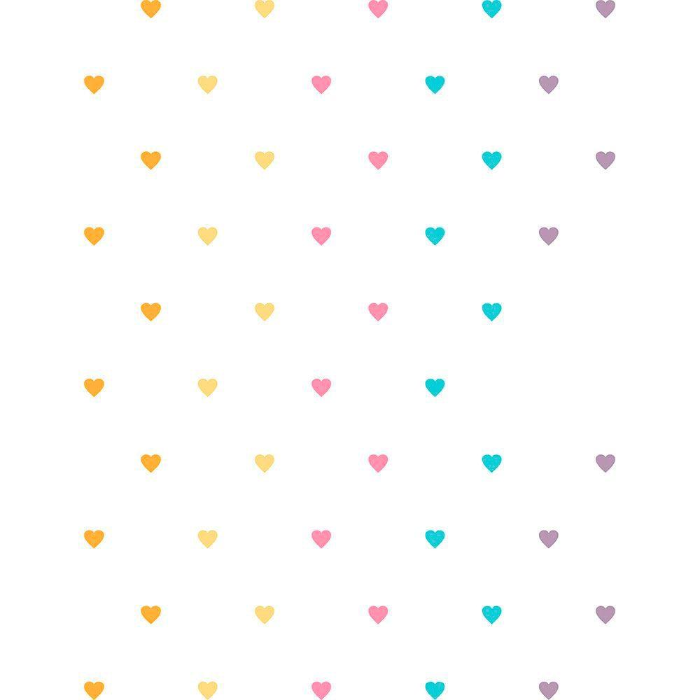 Adesivo de Parede Corações Coloridos