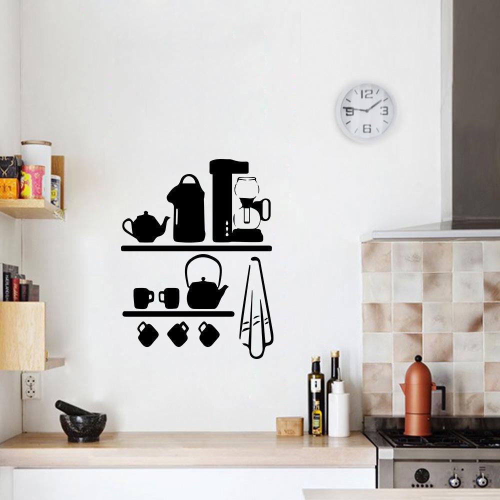 Aparador Azul Tifany ~ Adesivo de Parede Cozinha Cantinho do Café SHOP ADESIVOS