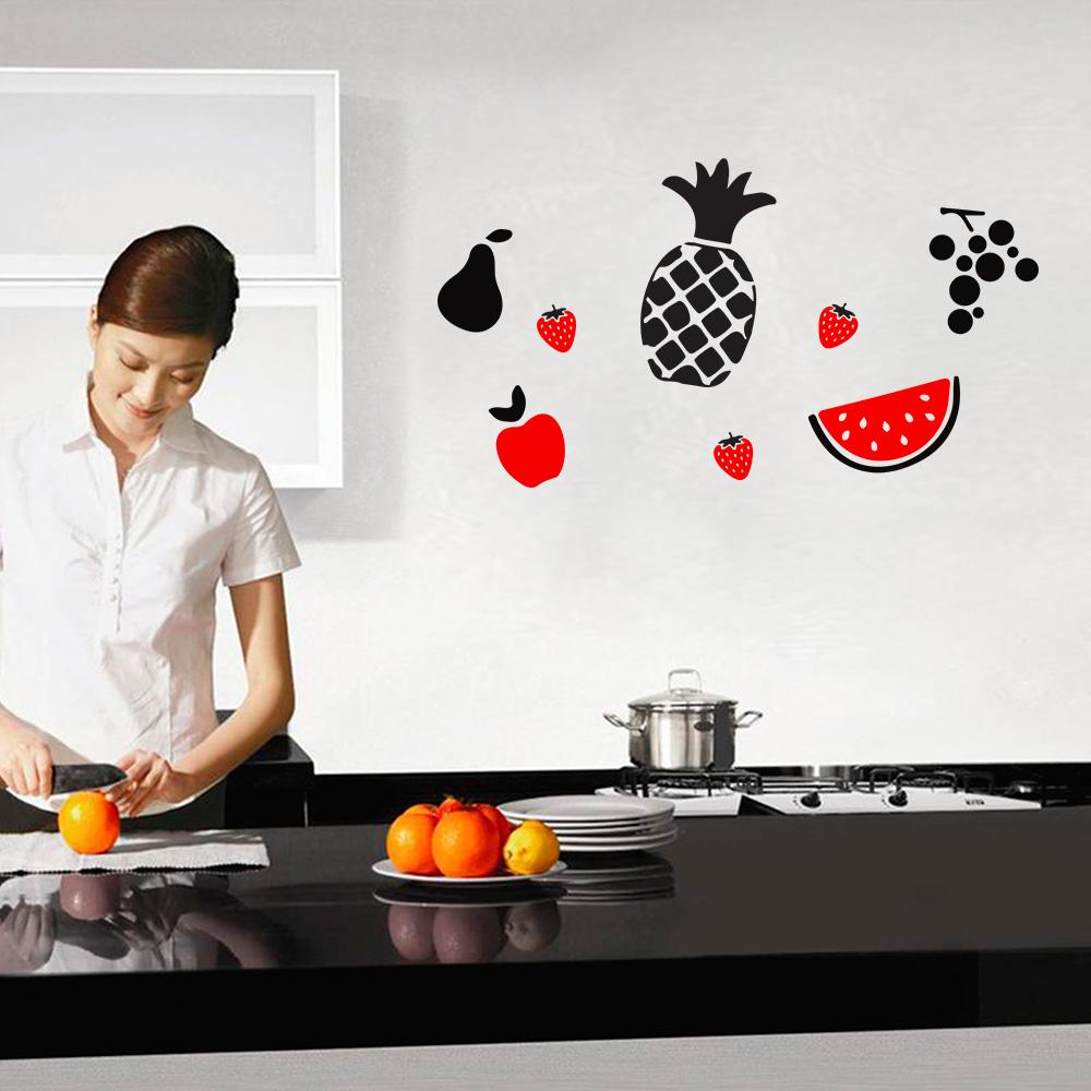 Adesivo Azulejo Pastilha Resinada ~ Adesivo De Parede Cozinha Frutas R$ 15,90 em Mercado Livre