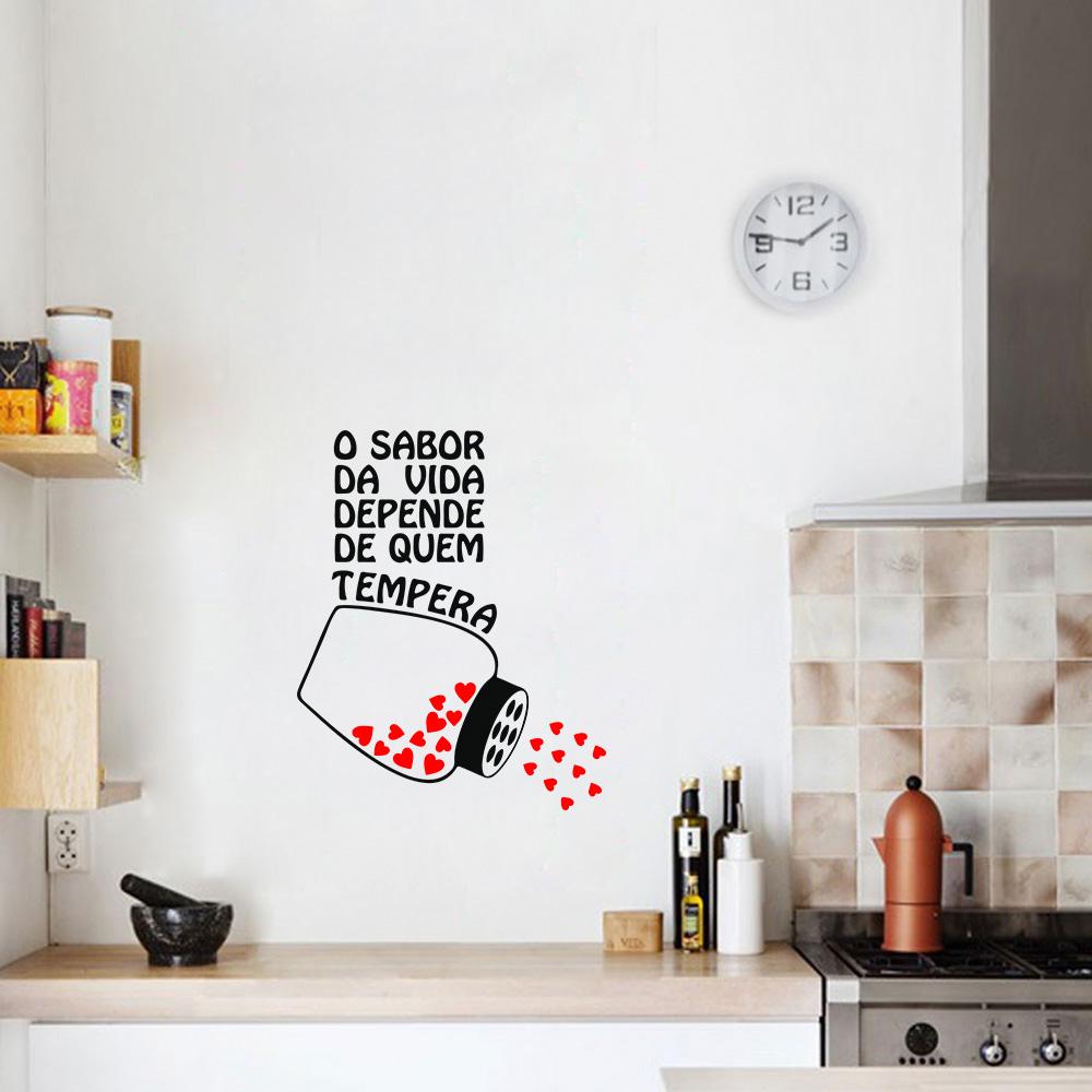 Adesivo De Parede Para Cozinha Mercado Livre ~ Adesivo De Parede Cozinha O Sabor Da Vida R$ 30,80 em Mercado Livre