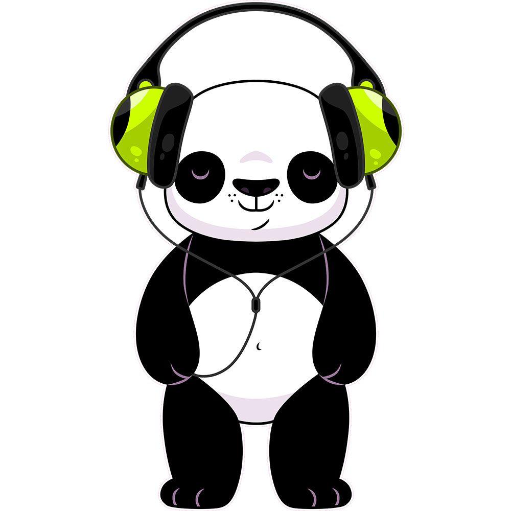 картинки панда в очках и наушниках окуджава