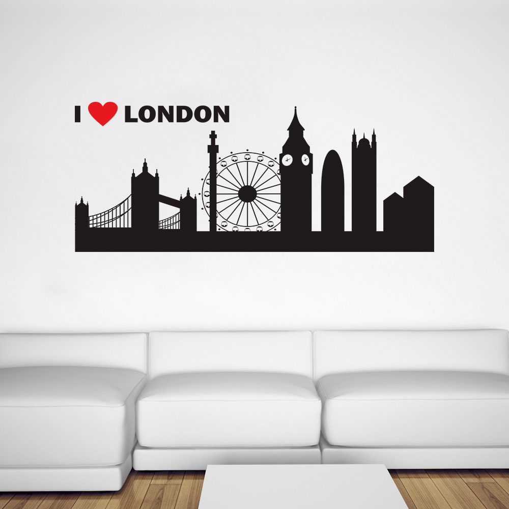 Aparador De Coxa Thunder ~ Adesivo Decorativo de Parede I Love London