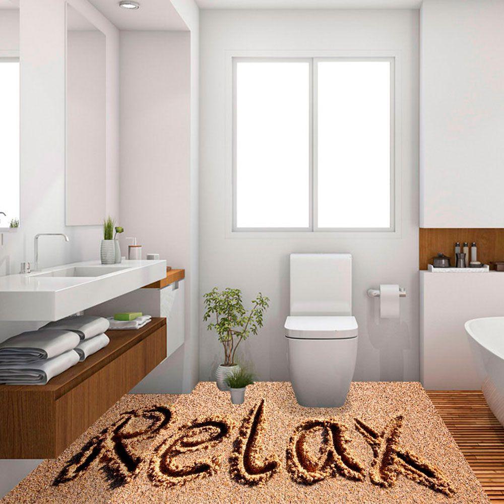 Adesivo de Piso 3D Porcelanato Liquido Relax Areia