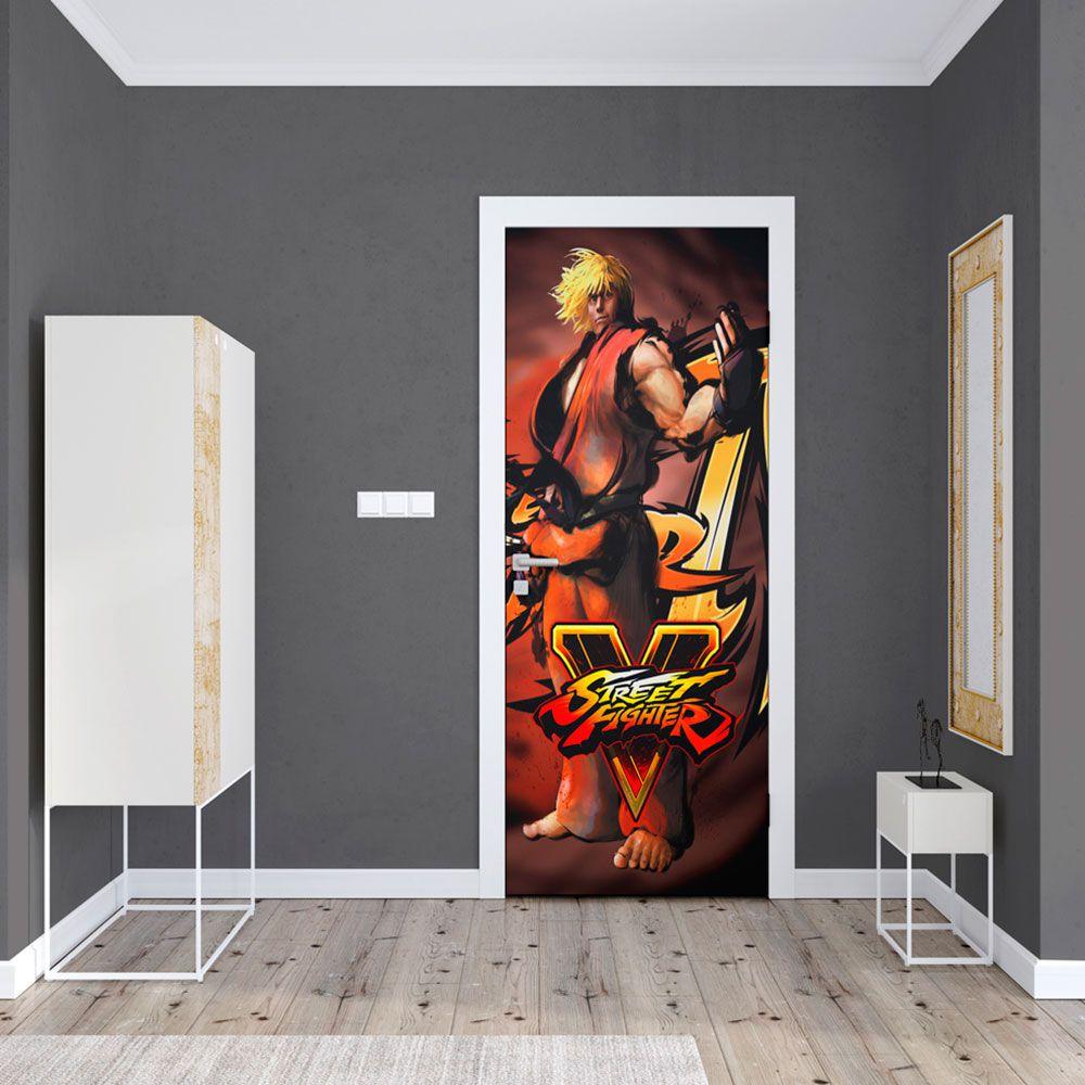 Adesivo de Porta Street Fighter Ken