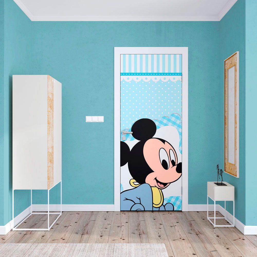 Adesivo de Porta Mickey Baby Azul